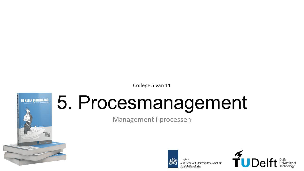 5. Procesmanagement Management i-processen College 5 van 11