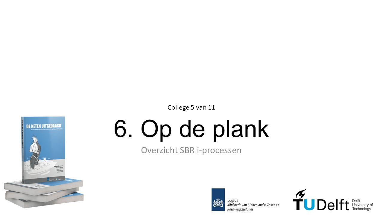 6. Op de plank Overzicht SBR i-processen College 5 van 11