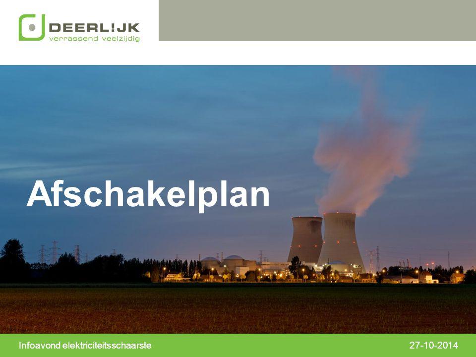 27-10-2014 Afschakelplan Infoavond elektriciteitsschaarste
