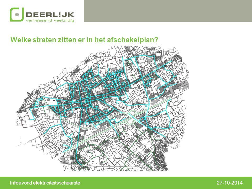 Welke straten zitten er in het afschakelplan? Infoavond elektriciteitsschaarste27-10-2014
