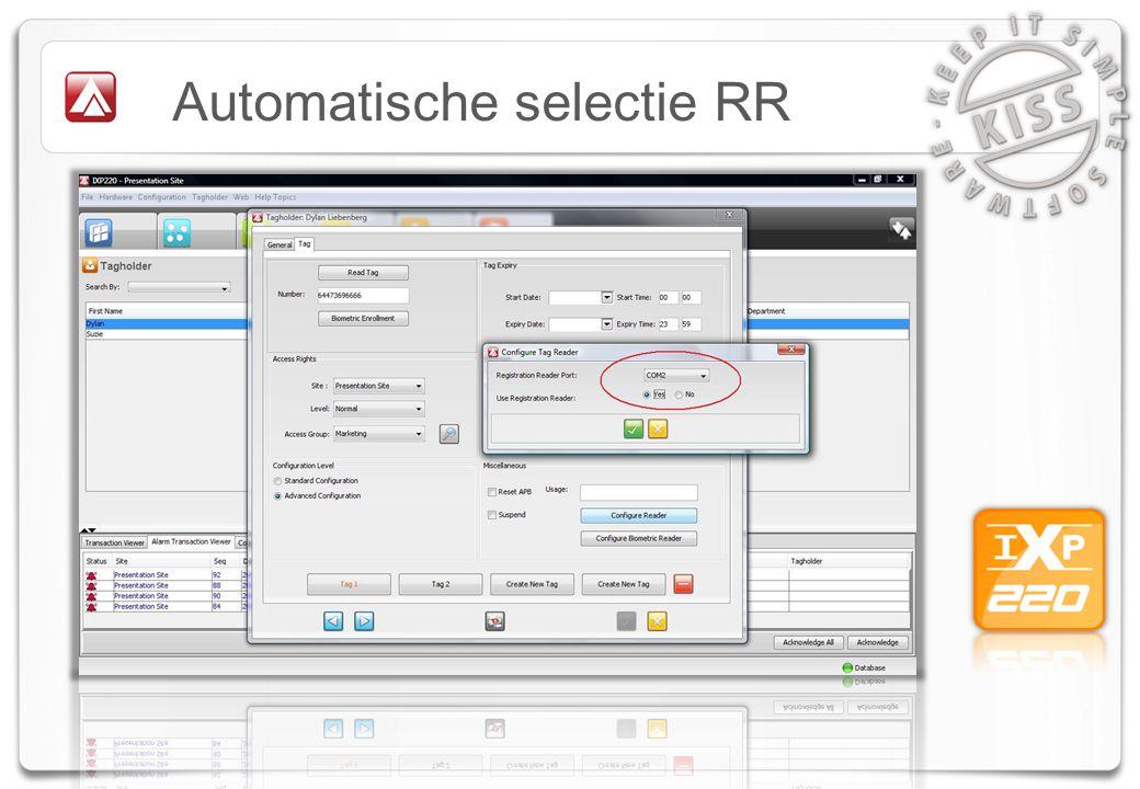Automatische selectie RR