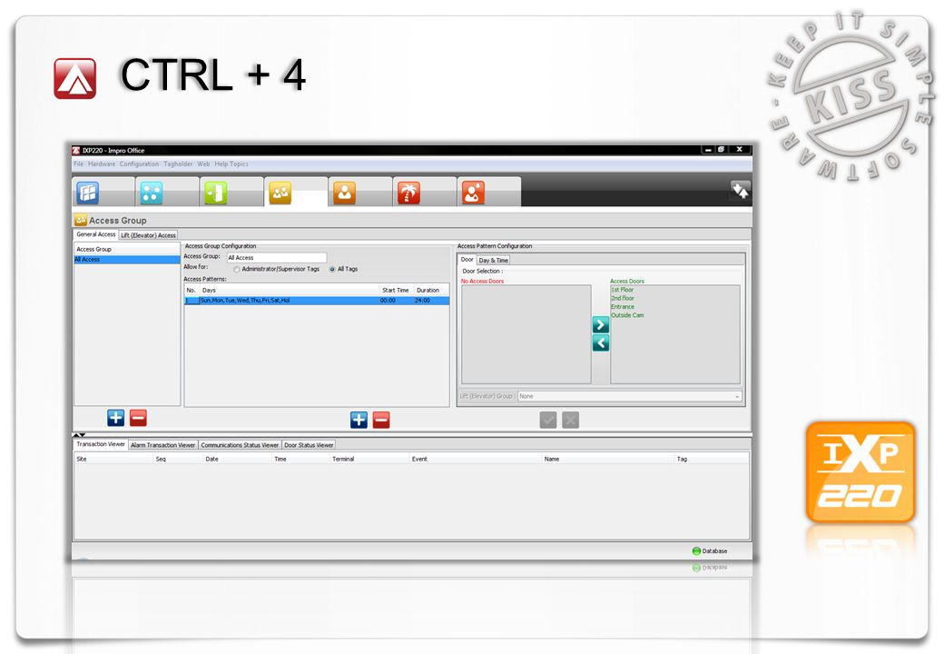 Visuele Deur Controle Site selectie.Deur kan via browser worden geopend.