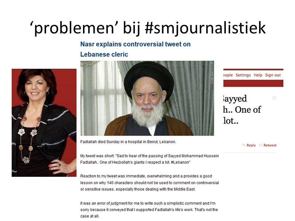 'problemen' bij #smjournalistiek