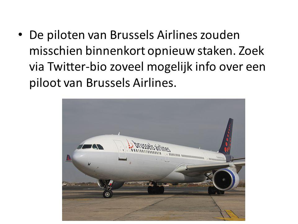 De piloten van Brussels Airlines zouden misschien binnenkort opnieuw staken.
