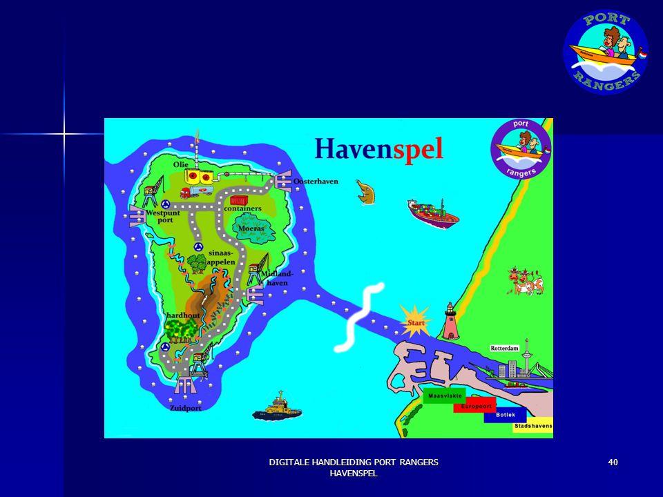 [AFBEELDING KAART] DIGITALE HANDLEIDING PORT RANGERS HAVENSPEL 40