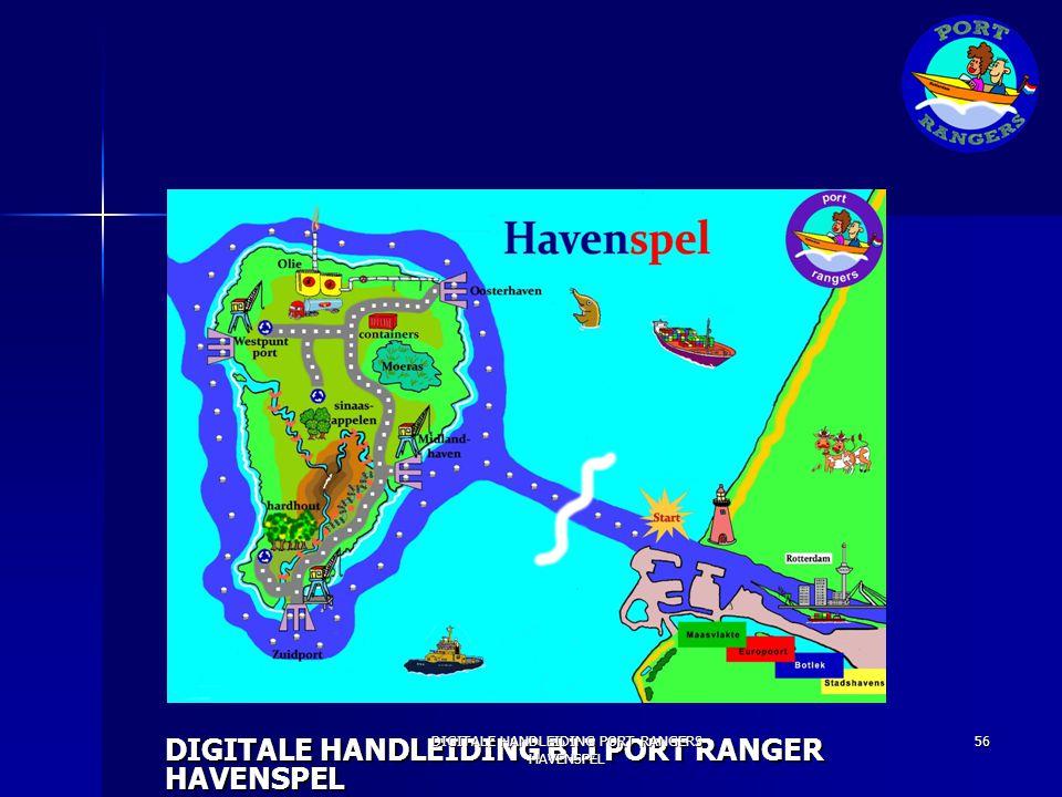 [AFBEELDING KAART] DIGITALE HANDLEIDING BIJ PORT RANGER HAVENSPEL DIGITALE HANDLEIDING PORT RANGERS HAVENSPEL 56