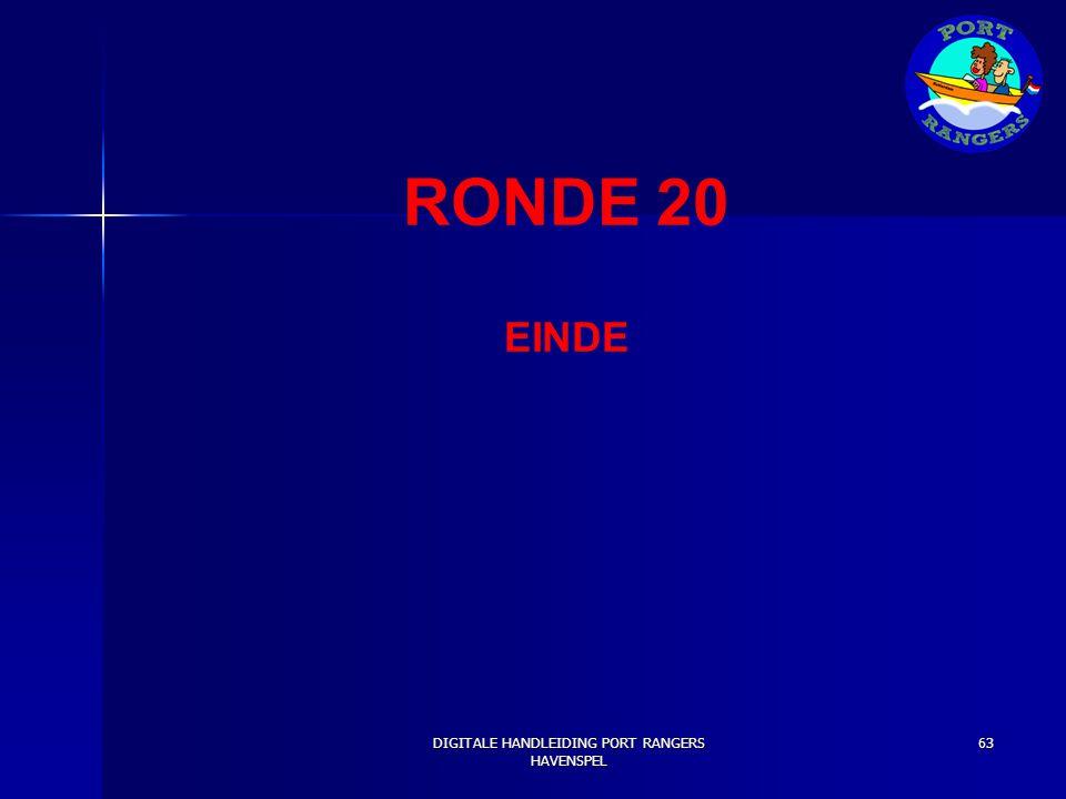 RONDE 20 EINDE DIGITALE HANDLEIDING PORT RANGERS HAVENSPEL 63