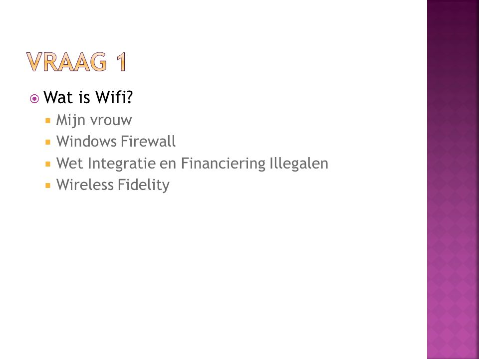  Wat is Wifi.