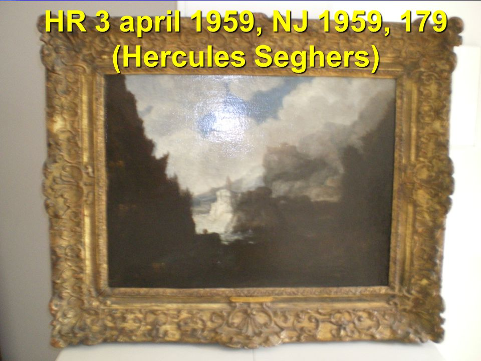 HR 3 april 1959, NJ 1959, 179 (Hercules Seghers)