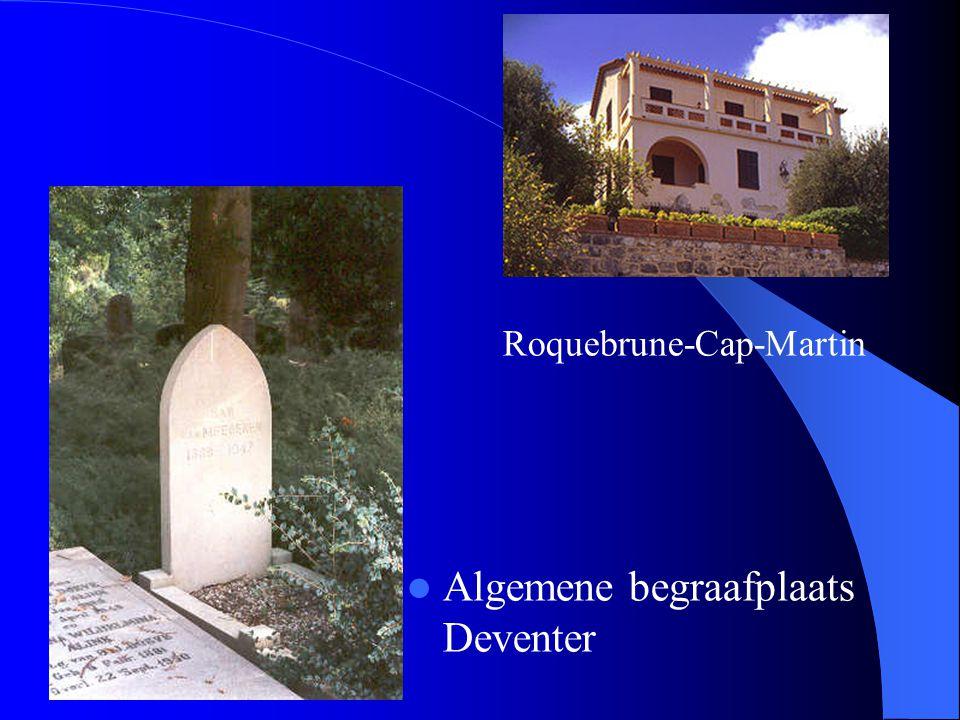 Roquebrune-Cap-Martin Algemene begraafplaats Deventer