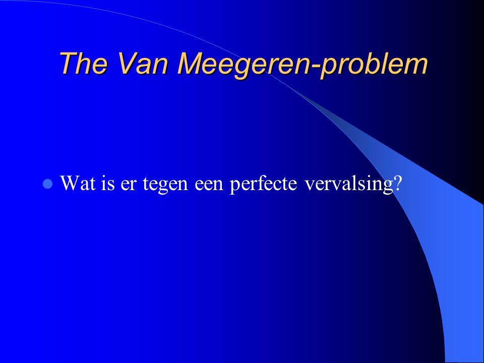 The Van Meegeren-problem Wat is er tegen een perfecte vervalsing?