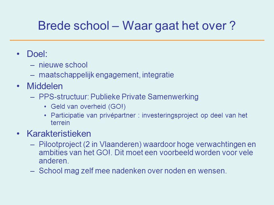 Brede school – Wat is er allemaal gebeurd .