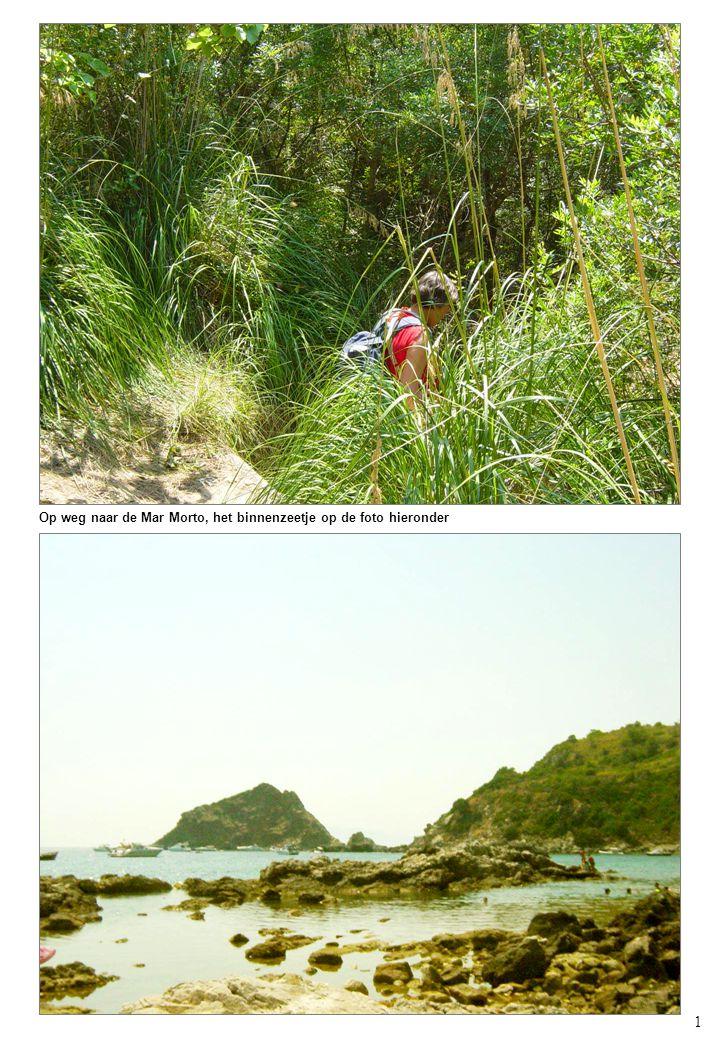 1 Op weg naar de Mar Morto, het binnenzeetje op de foto hieronder