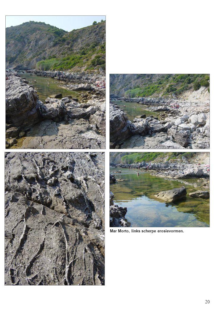 20 Mar Morto, links scherpe erosievormen.