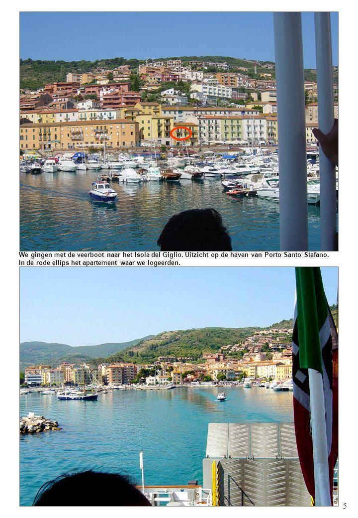 5 We gingen met de veerboot naar het Isola del Giglio.