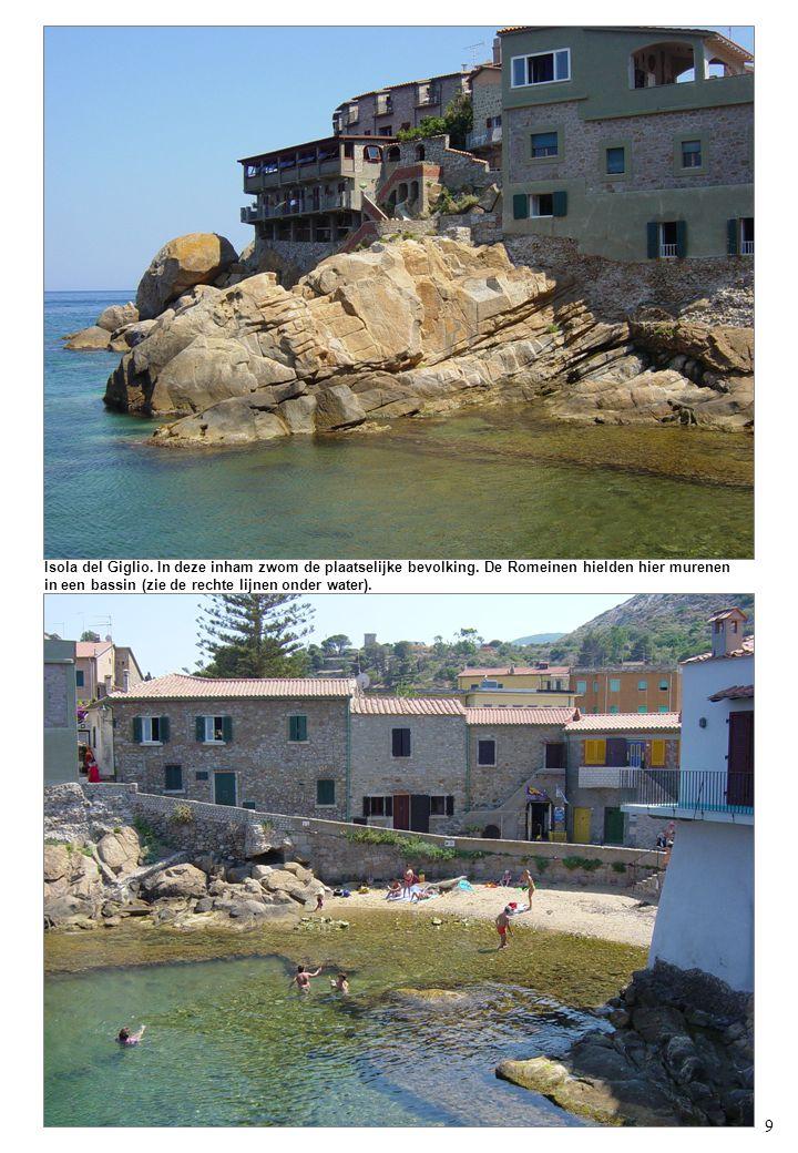 9 Isola del Giglio. In deze inham zwom de plaatselijke bevolking.