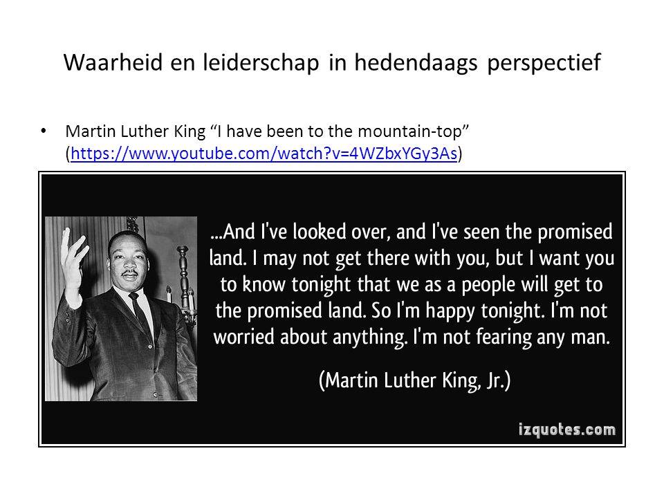 Waarheid en leiderschap in hedendaags perspectief