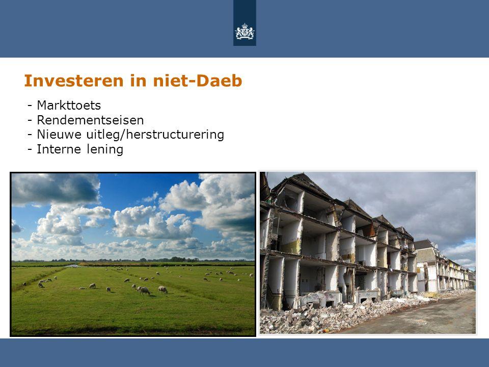 Investeren in niet-Daeb - Markttoets - Rendementseisen - Nieuwe uitleg/herstructurering - Interne lening