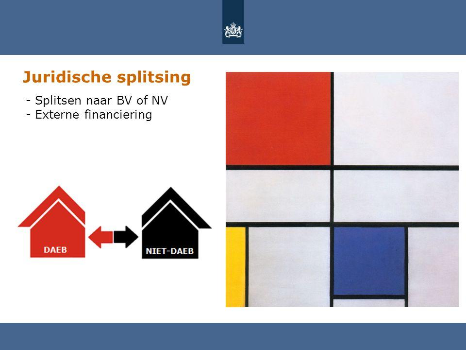 Juridische splitsing - Splitsen naar BV of NV - Externe financiering