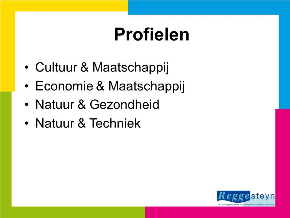 Profielen Cultuur & Maatschappij Economie & Maatschappij Natuur & Gezondheid Natuur & Techniek