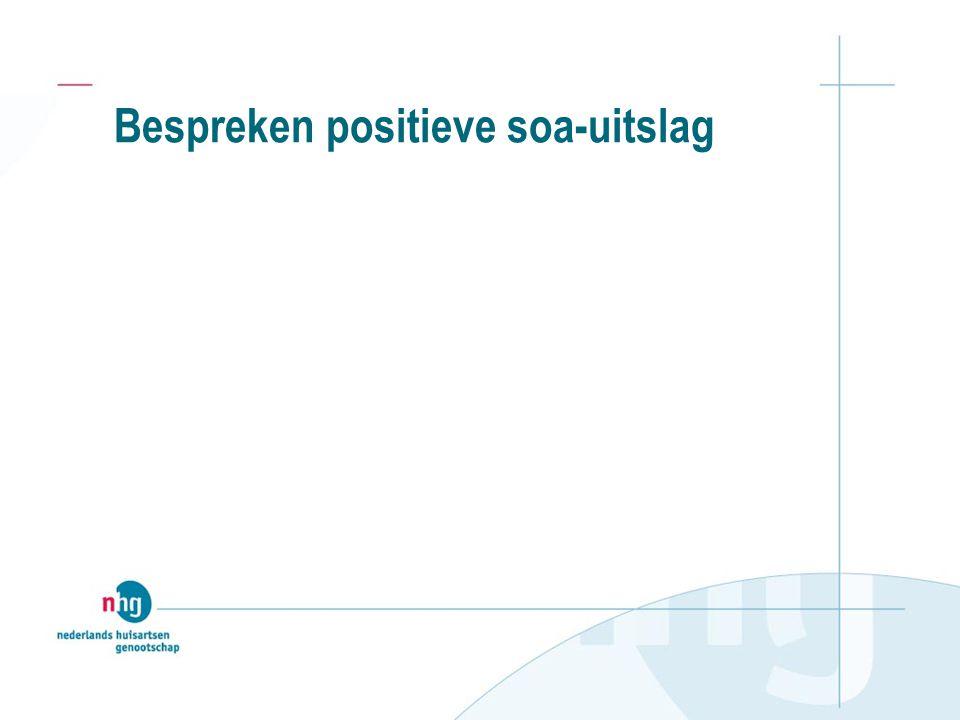 Bespreken positieve soa-uitslag