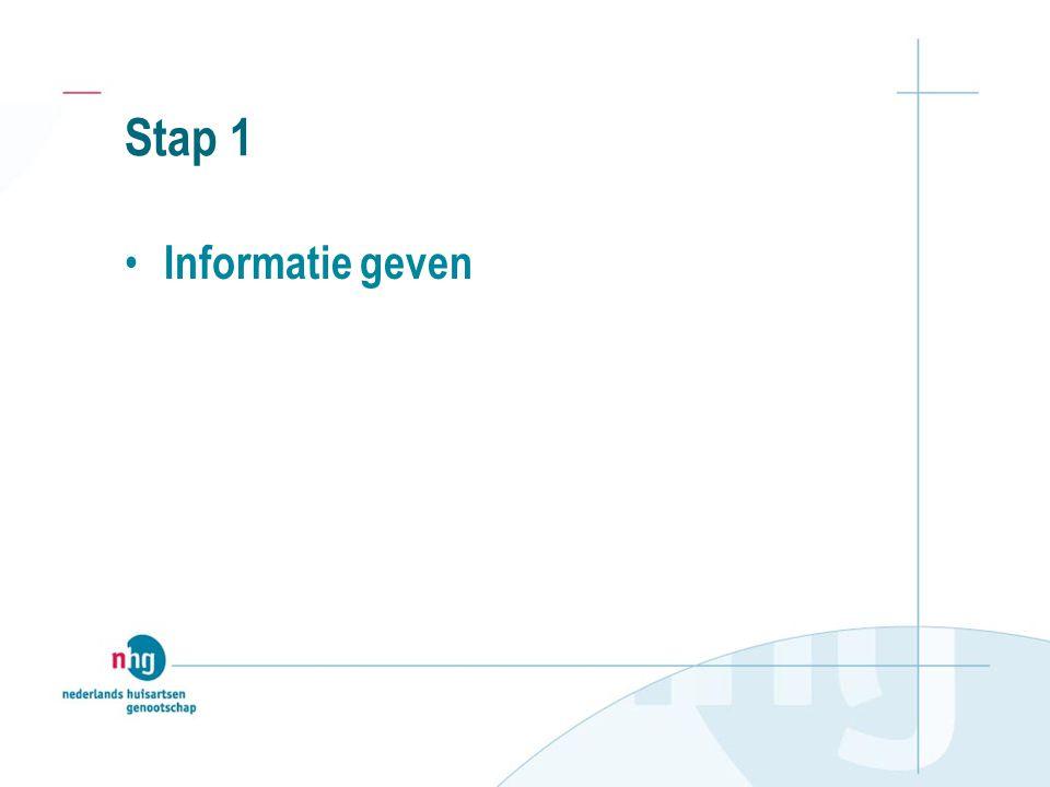 Stap 1 Informatie geven