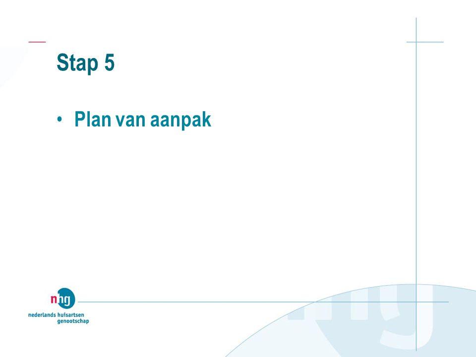 Stap 5 Plan van aanpak