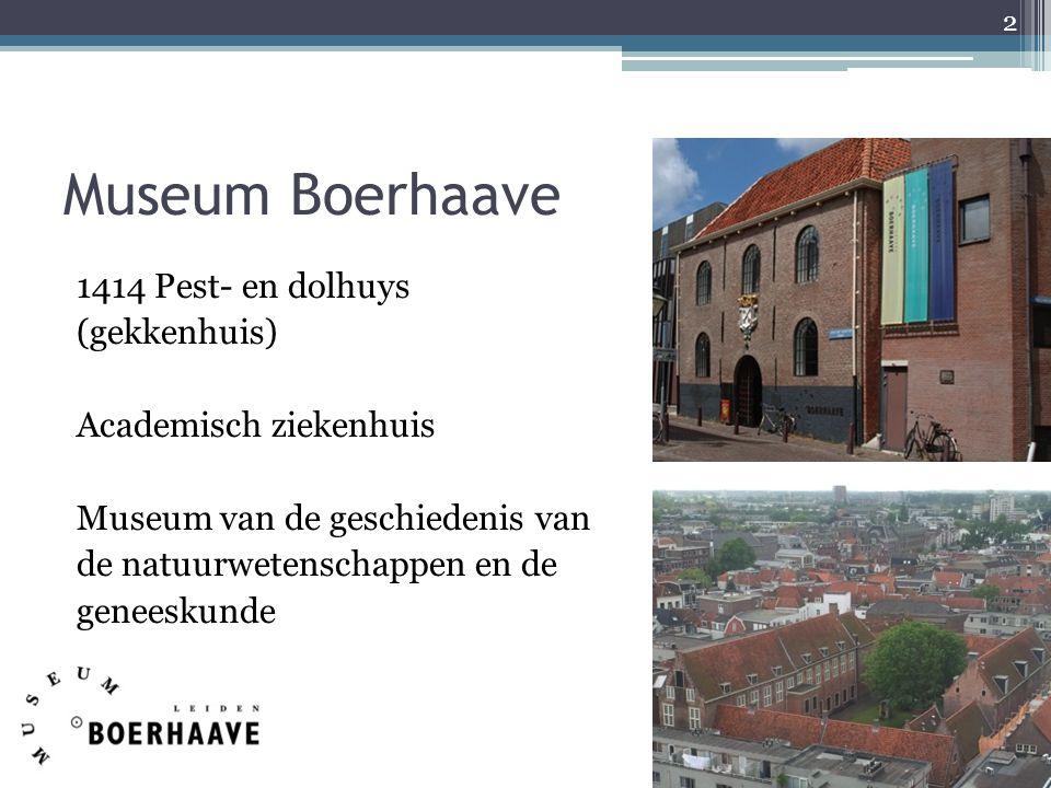 Museum Boerhaave 1414 Pest- en dolhuys (gekkenhuis) Academisch ziekenhuis Museum van de geschiedenis van de natuurwetenschappen en de geneeskunde 2