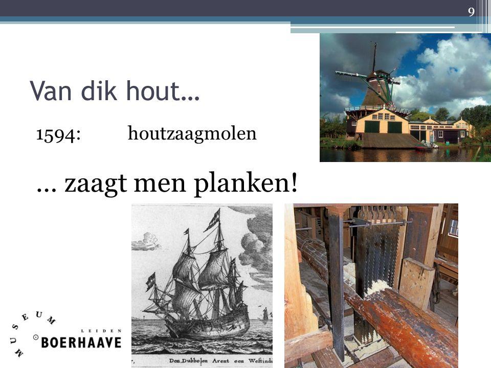Van dik hout… 1594:houtzaagmolen … zaagt men planken! 9