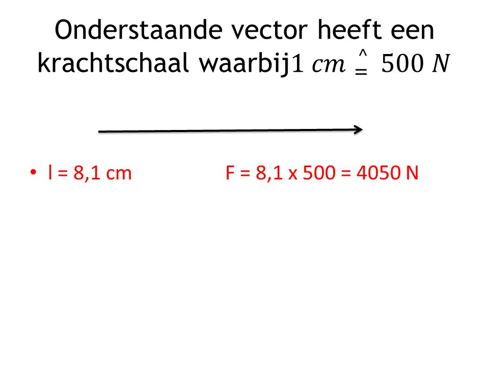 l = 8,1 cmF = 8,1 x 500 = 4050 N
