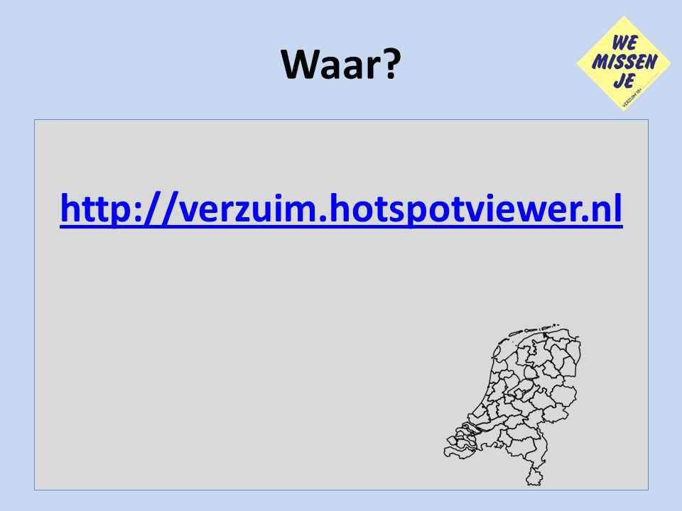 Waar? http://verzuim.hotspotviewer.nl