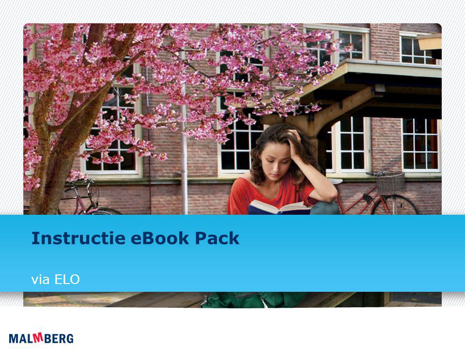 Instructie eBook Pack via ELO
