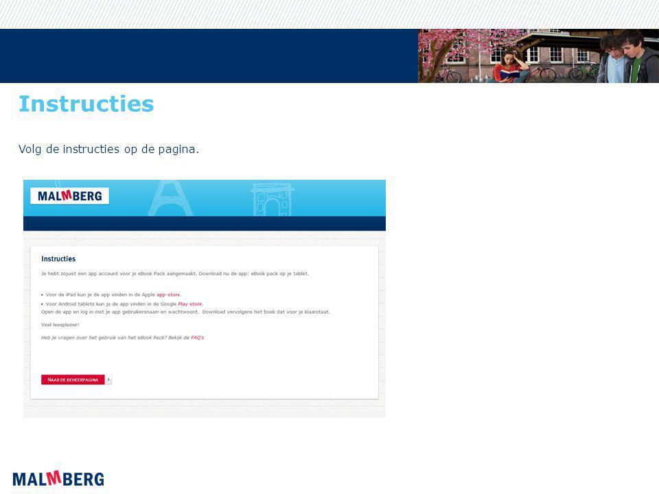 Instructies Volg de instructies op de pagina.