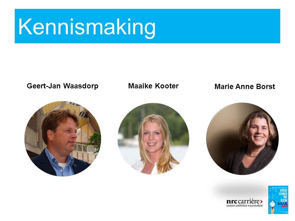 Kennismaking 3 Geert-Jan WaasdorpMaaike Kooter Marie Anne Borst