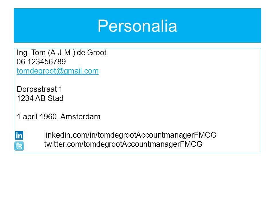 Personalia Ing.