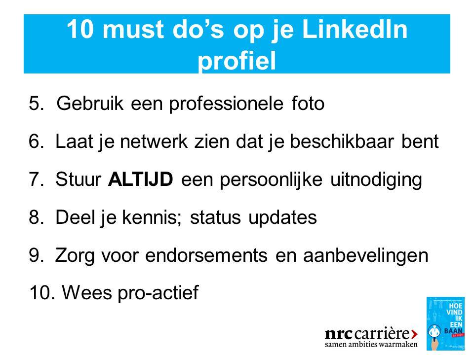 10 must do's op je LinkedIn profiel 5.