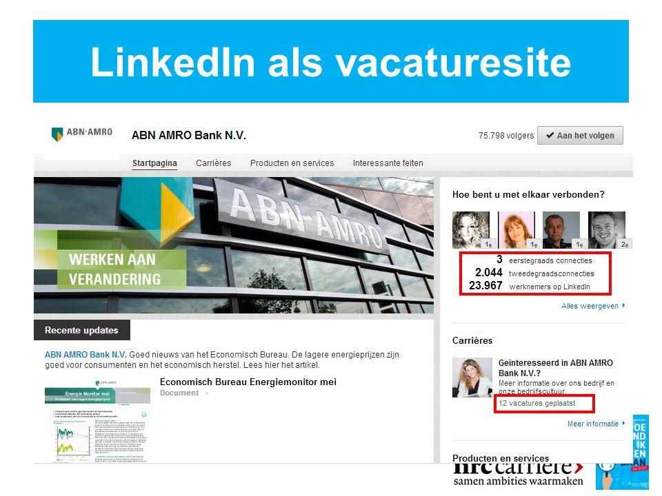 LinkedIn als vacaturesite