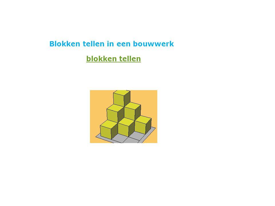 Blokken tellen in een bouwwerk blokken tellen