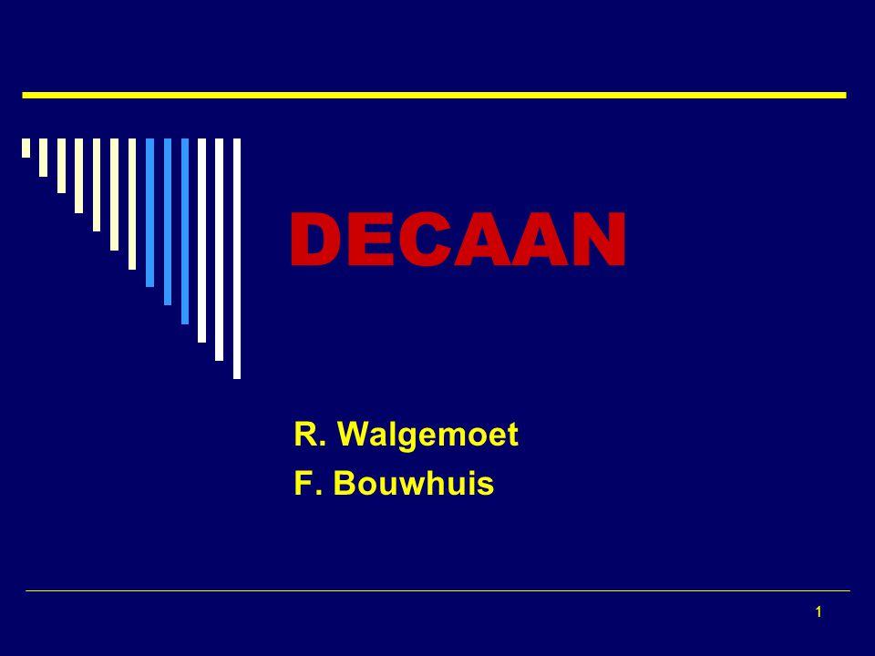 1 DECAAN R. Walgemoet F. Bouwhuis