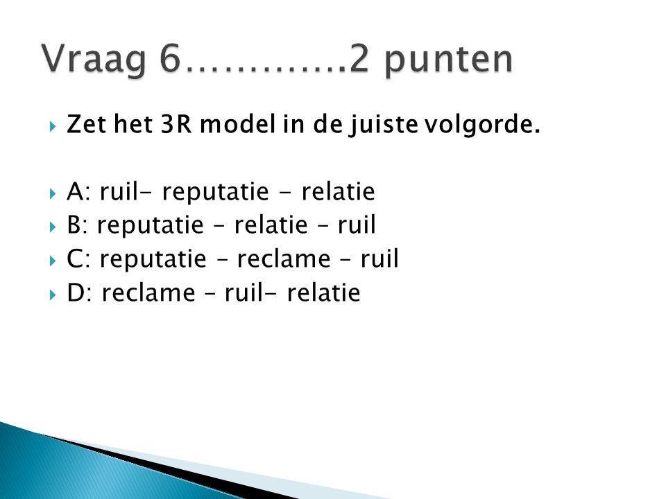  Zet het 3R model in de juiste volgorde.