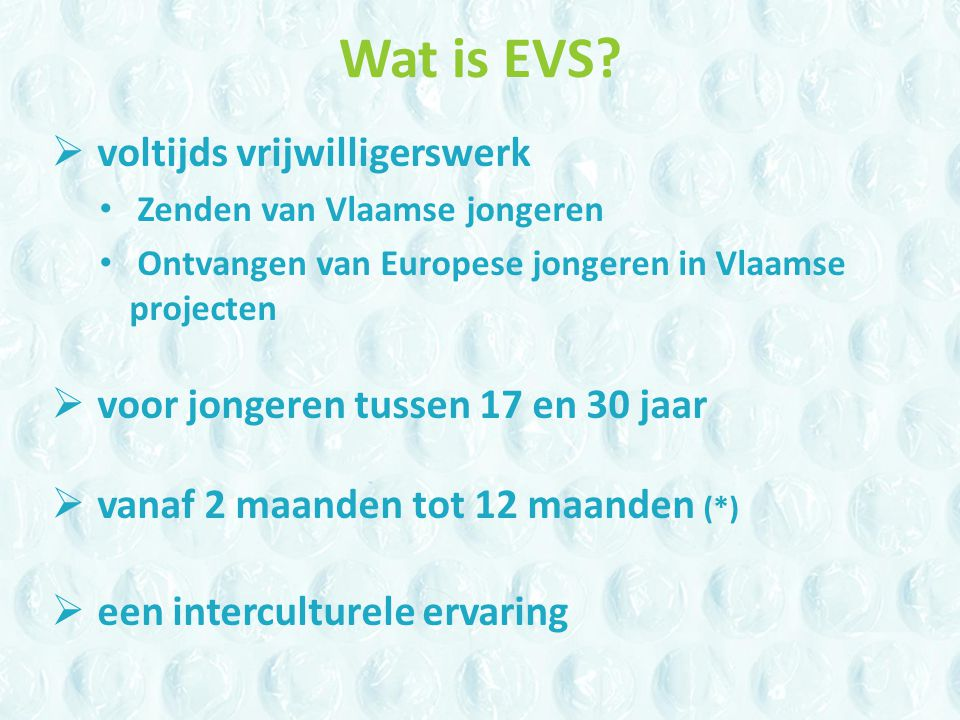 Wat is EVS.