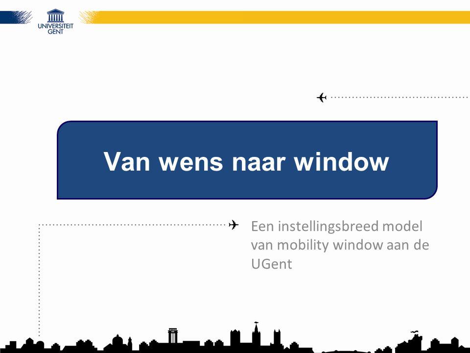 Van wens naar window Een instellingsbreed model van mobility window aan de UGent
