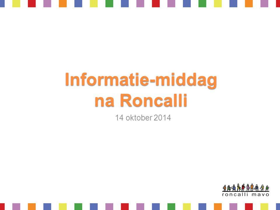 Informatie-middag na Roncalli 14 oktober 2014