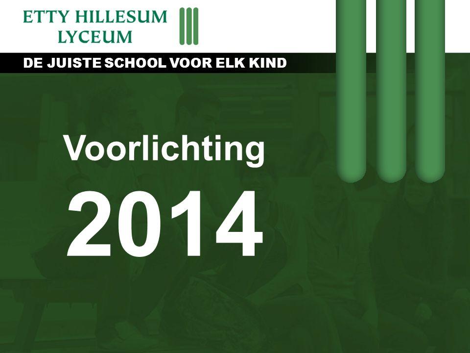 DE JUISTE SCHOOL VOOR ELK KIND Voorlichting 2014