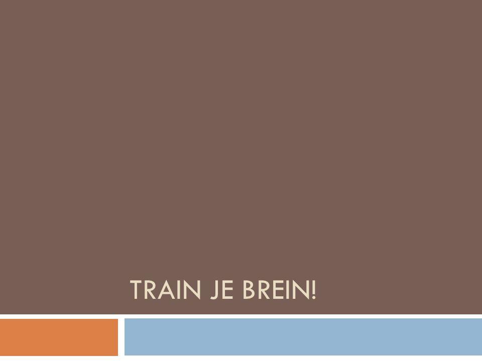 TRAIN JE BREIN!