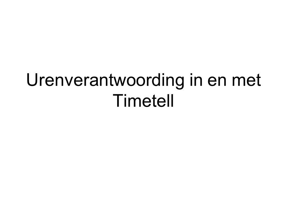 Urenverantwoording in en met Timetell