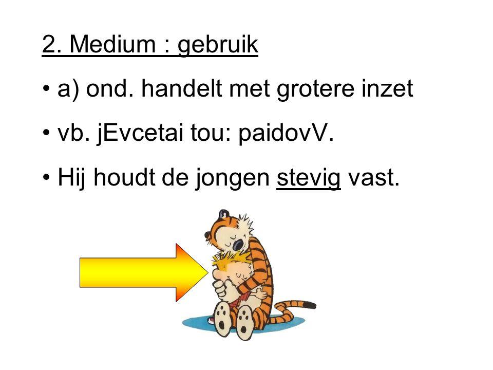 2.Medium : gebruik a) ond. handelt met grotere inzet vb.