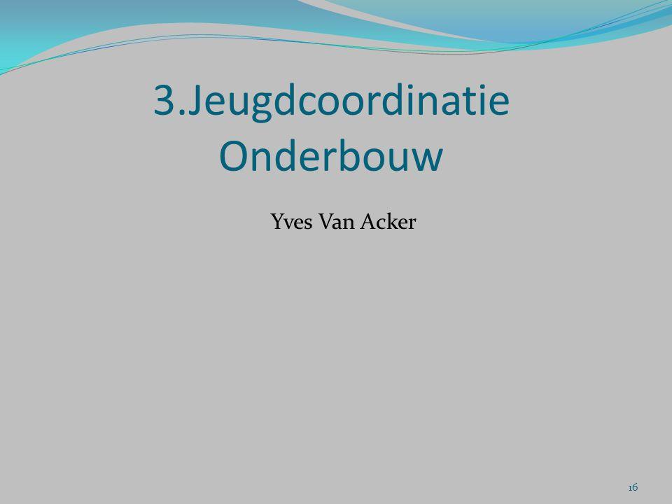 3.Jeugdcoordinatie Onderbouw Yves Van Acker 16