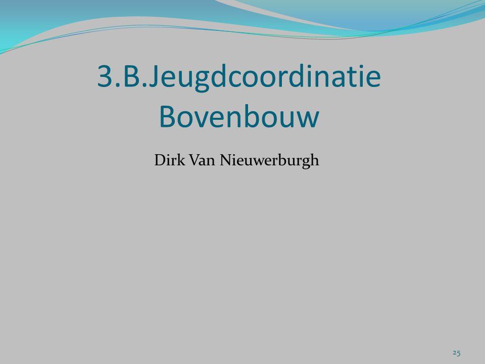 3.B.Jeugdcoordinatie Bovenbouw Dirk Van Nieuwerburgh 25