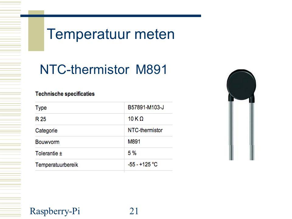 Raspberry-Pi21 Temperatuur meten NTC-thermistor M891